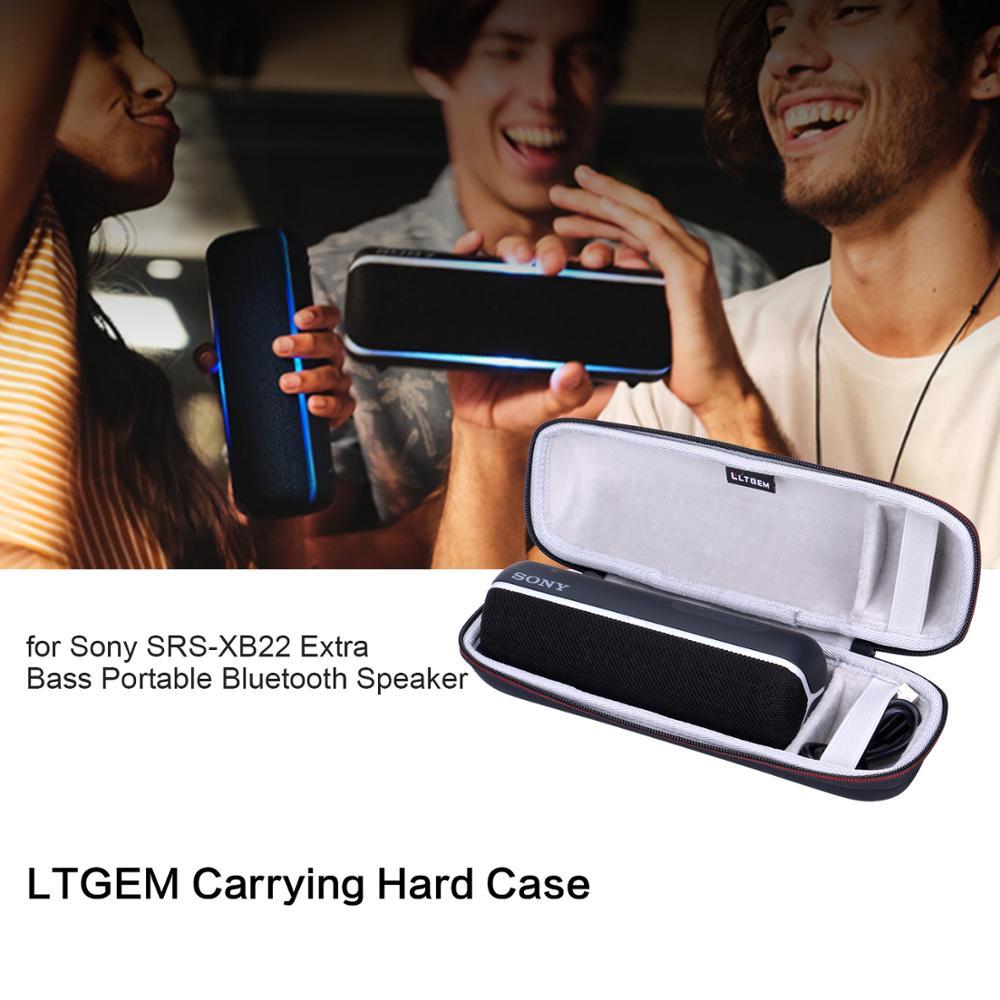 Funda rígida LTGEM EVA para Altavoz Bluetooth portátil Sony SRS-XB22 con graves adicionales