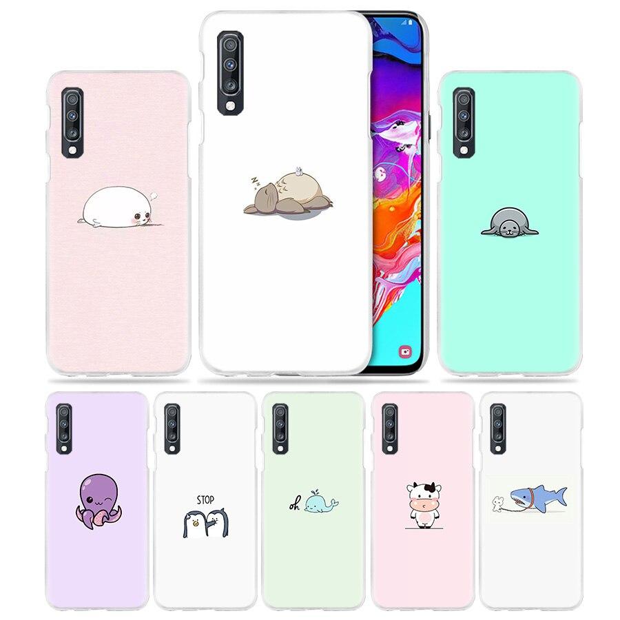 Cartoon Totoro Dichtungen Fall für Samsung Galaxy A50 A70 A20 A90 5G A80 A60 A40 A30 S A10 E a8 A6 + A9 A7 2018 Harte Telefon Coque Sac
