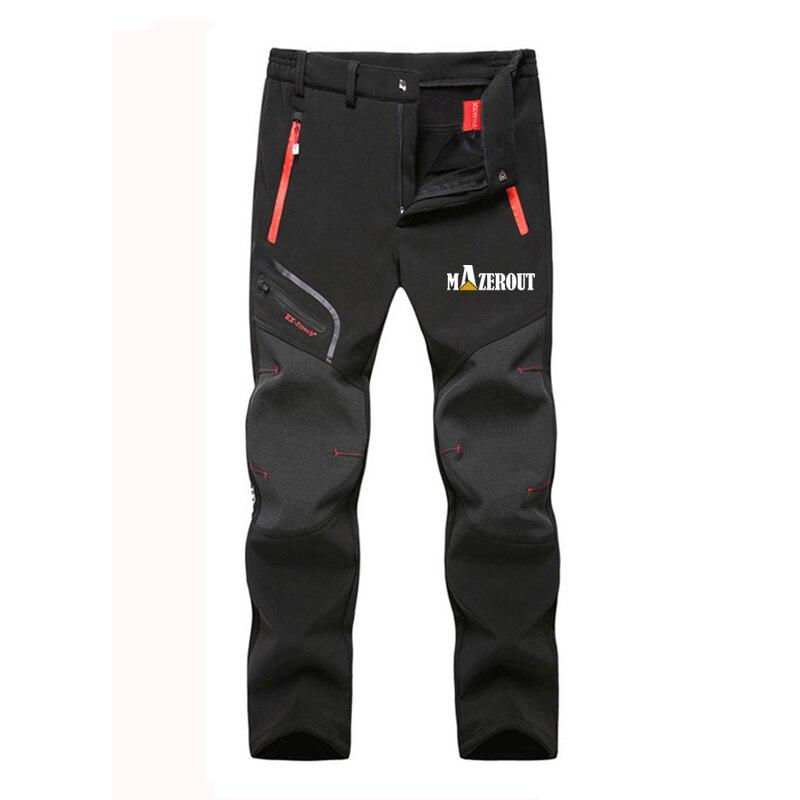 Мужские зимние теплые брюки большого размера