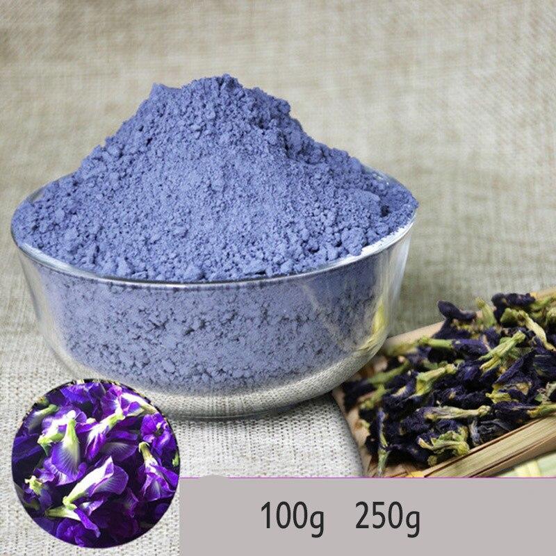 Juguete de cocina de simulación Tailandia mariposa azul guisante en polvo 250g Clitoria Ternatea Thai mariposa guisante té vitamina A juguete