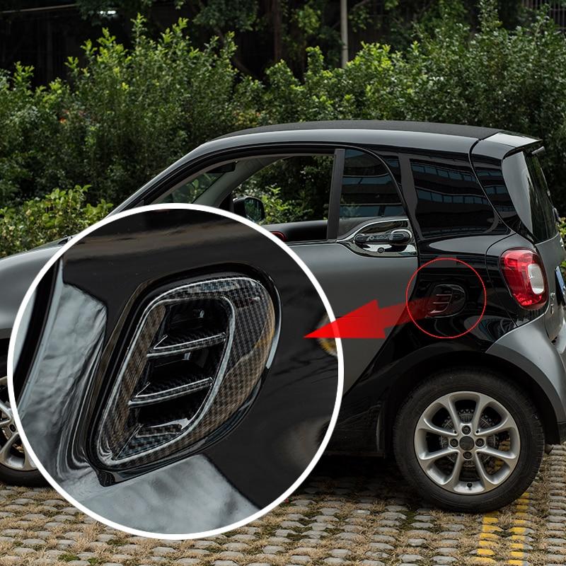 Para 453 nuevo Smart Fortwo salida de aire trasera marco decorativo ABS pegatina 3D salida de aire cubierta de protección accesorios de estilo de coche