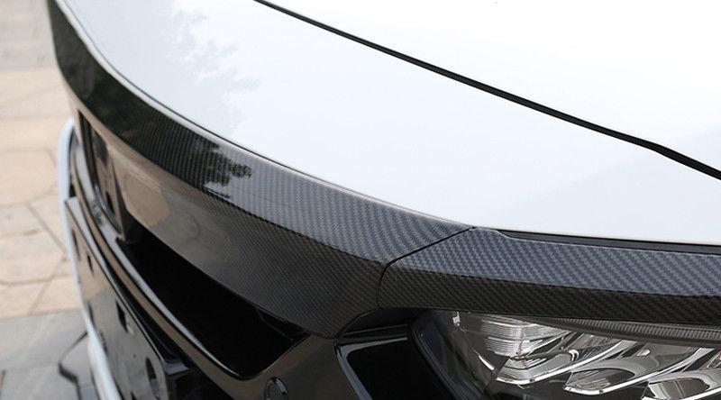 Ajuste para Honda Accord 2018 2019 cubierta frontal de tapa de fibra de carbono cubierta para capó Trim 3 uds