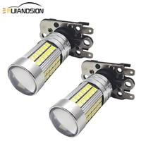 2 pcs 3030 66smd ph16w canbus led bulb car backup reverse light bulb auto turn signal lamp white 10 30v 1200lm no polar