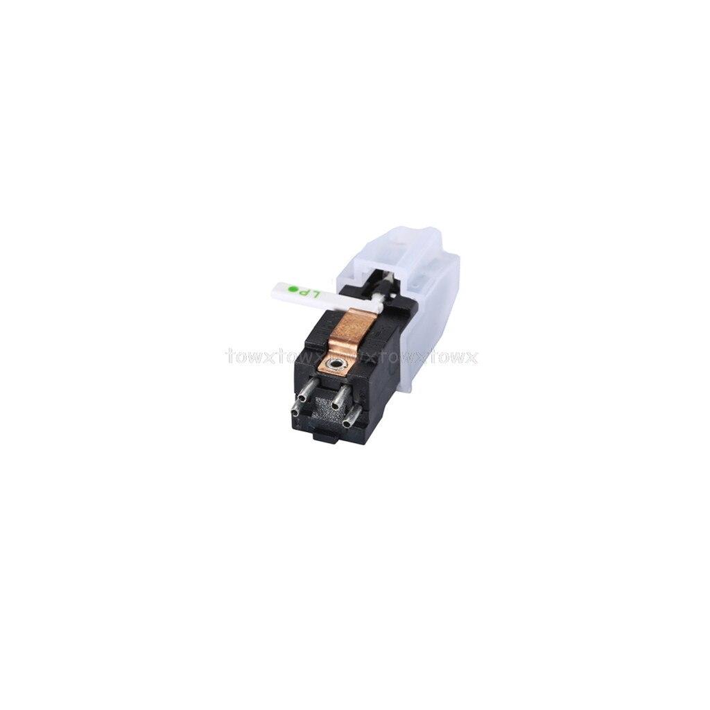 Aguja de tocadiscos Stylus doble rubí y zafiro estéreo stylus aguja tocadiscos cartucho D10 19 Dropship