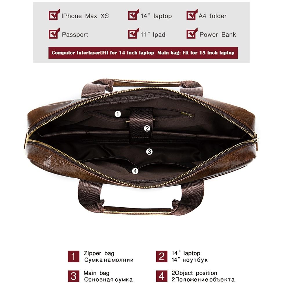 Чанта мъжко куфарче от естествена - Чанти за документи - Снимка 4