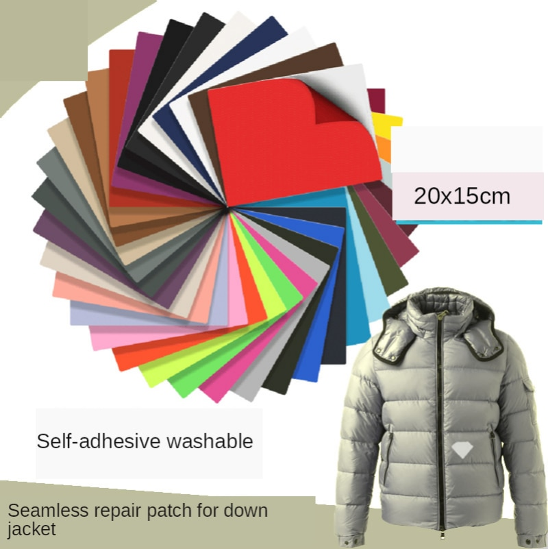 Seamless Hole Repair Patch for Down Jacket Strong Self Adhesive Sticker PVC Nylon Waterproof Materia