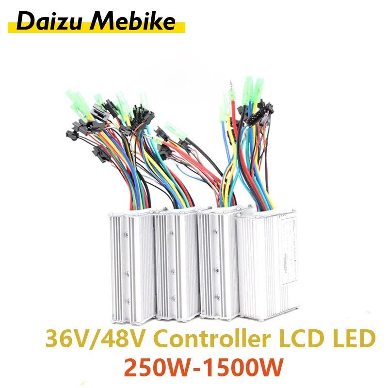 Controlador LED LCD para bicicleta de montaña y carretera, 250w-500w, modo Dual
