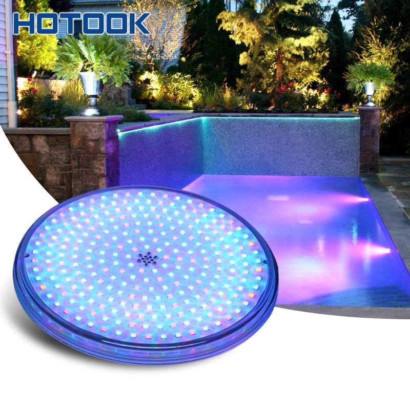 HOTOOK מתחת למים אורות PAR56 RGB LED בריכת אור שרף מלא הפיסינה קיר רכוב FocoPool מנורת 12 V IP68 18 W 42 W בריכה