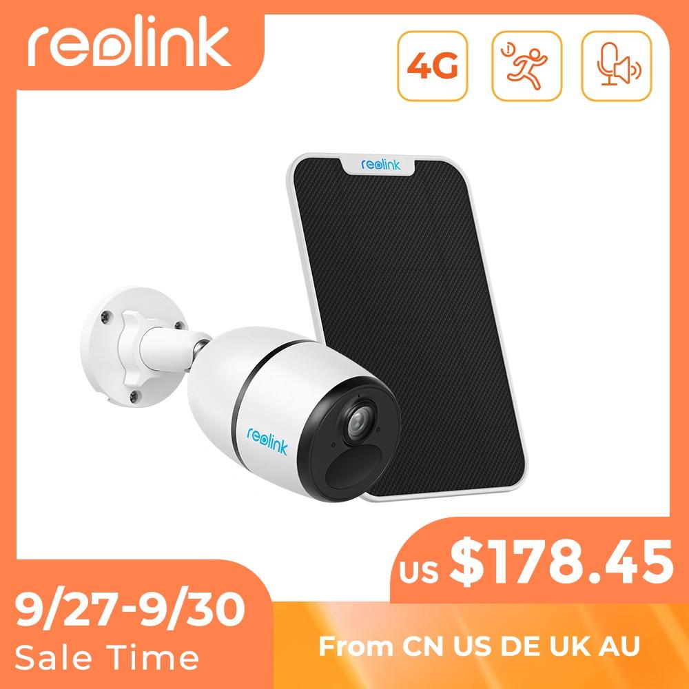 Reolink-كاميرا ip 4G LTE GO 1080p (موديل GO) ، مقاومة للماء ، مع بطارية قابلة لإعادة الشحن ورؤية ليلية starlight ، متوافقة مع بطاقة SIM