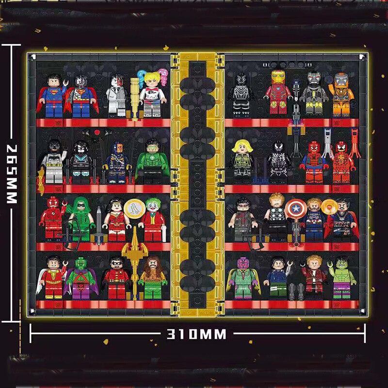 Lepining Marvel Avengerses, superhéroe, libro de ajedrez, Colección Iron Man, libro en forma de bloques de construcción, figuras, juguetes, regalos para niños