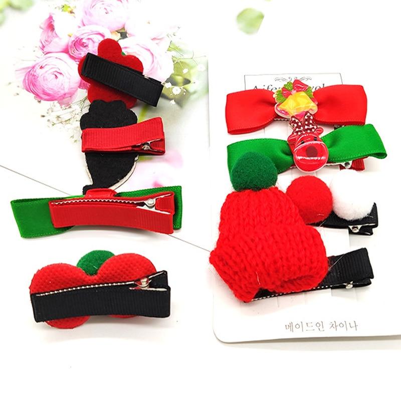 Christmas Hairpin Christmas Set Candy Santa Hairpin Headdress Duckbill Clip Butterfly Hair Clip