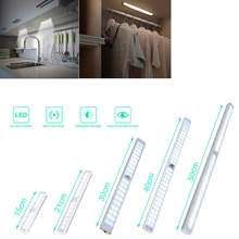 9- 50cm USB Rechargeable LED Night Light Motion Sensor Wireless Night Lamp For Kitchen Stairs Cabinet Wardrobe Bedroom Lamp