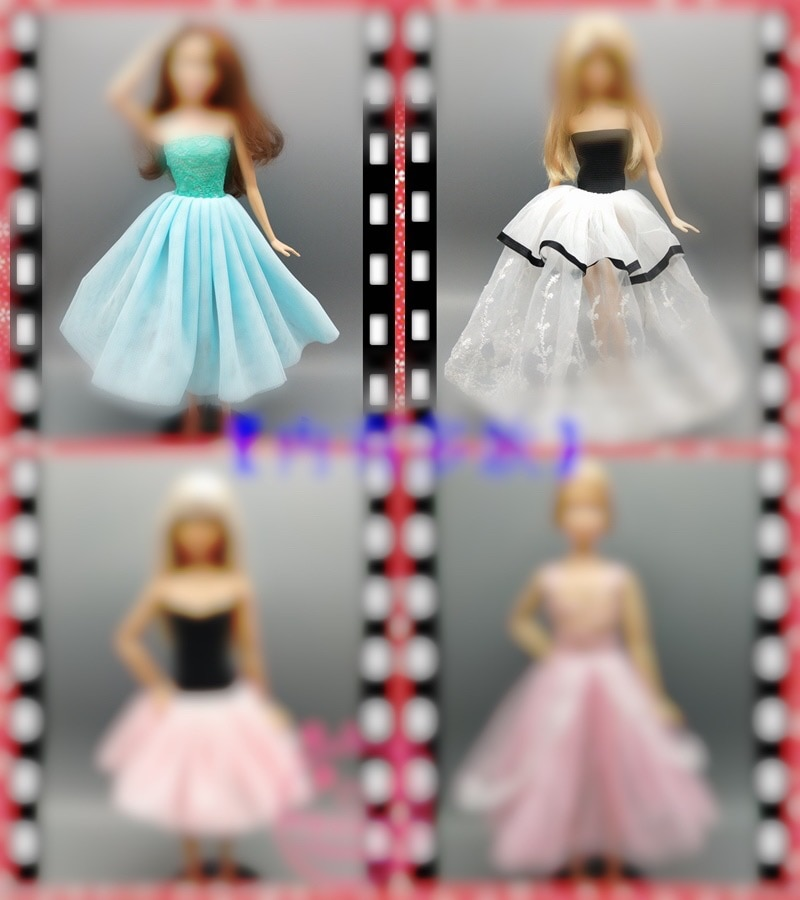 Vestido de muñeca de 30cm, ropa de moda, atuendo hecho a mano...