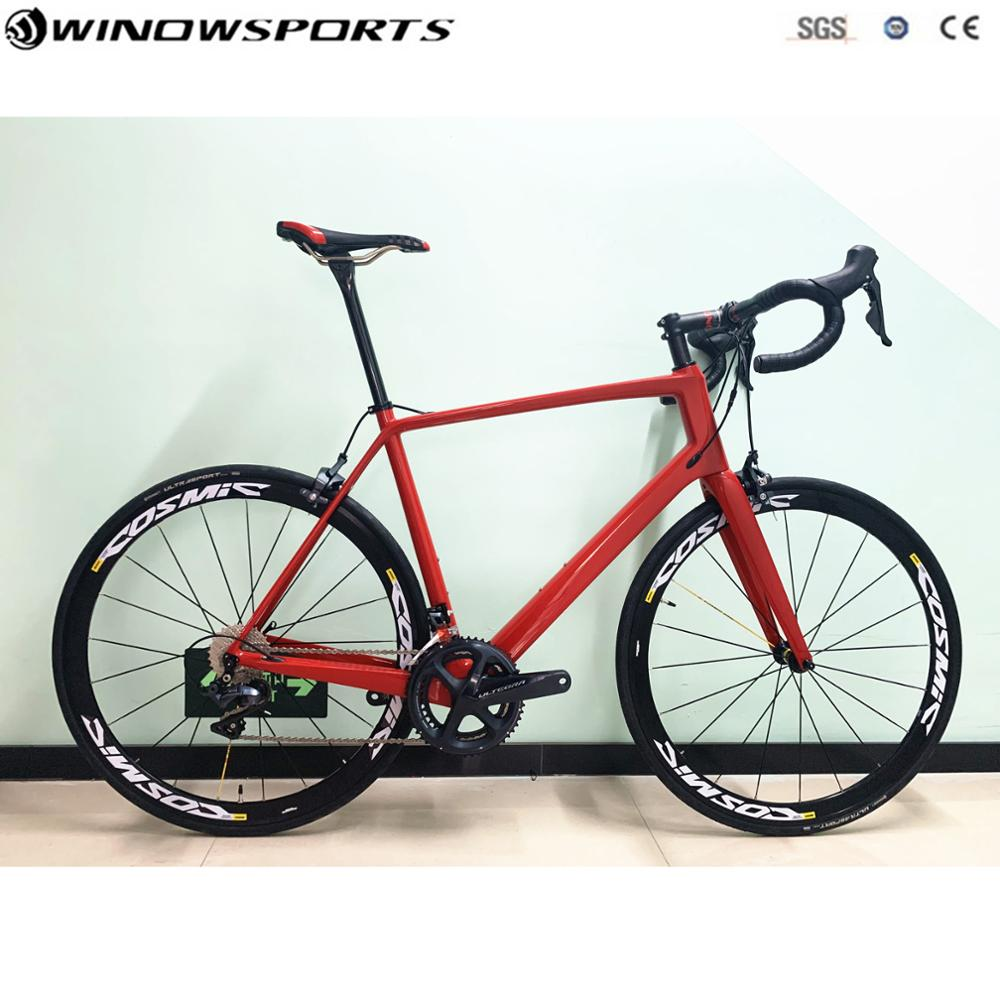 Bicicleta de carretera de carbono Complet, bicicleta de carretera de carbono con UT R8000/R7000, conjunto de 22 velocidades, bicicleta de carretera de carbono, tamaño 49/52/56/58cm