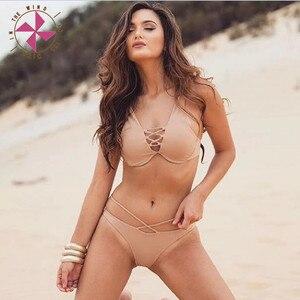 In The Wind New Swimwear High Waist Bikini New Summer Womens Brazilian Padded Set Hollow Push Up Swimsuit Bathing Suit Beachwear