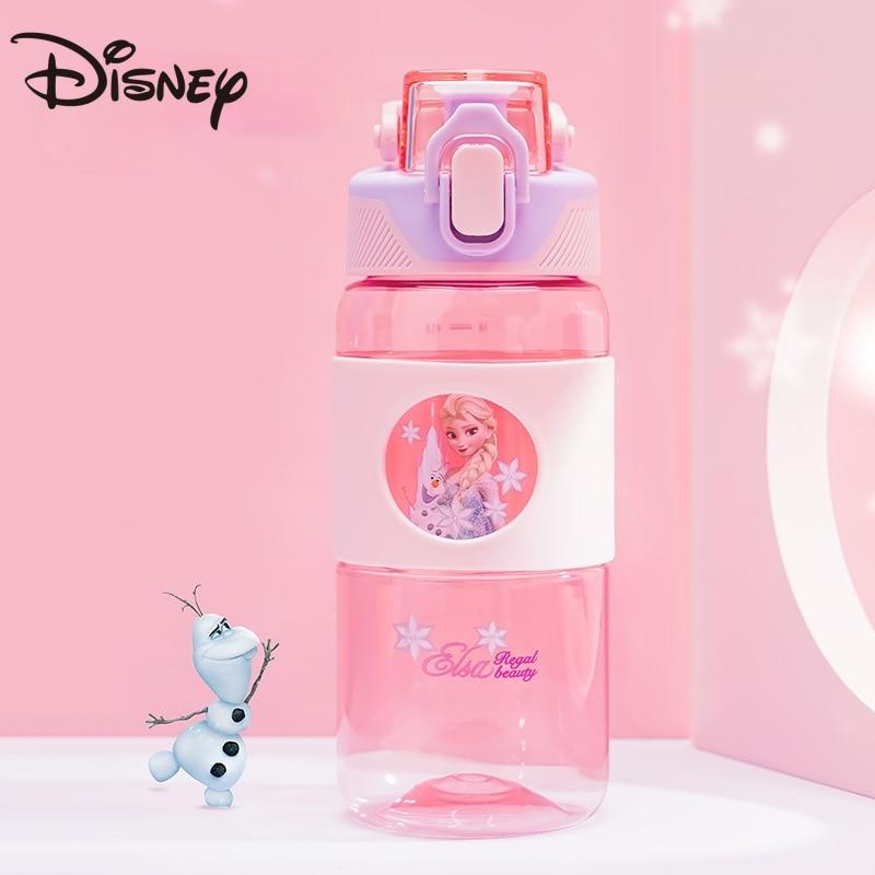 أكواب مياه ديزني للأطفال للصيف مع شفاطات سعة كبيرة مستوى ظهور عالي للرجال والنساء زجاجة مياه لطيفة مضادة للقطرة