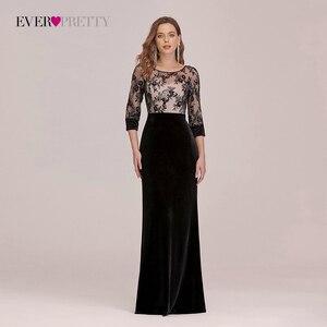 Evening Dresses Long Ever Pretty Elegant High Waist Velvet Mermaid Evening Dress With Sequins Bodice Dresses For Women Party