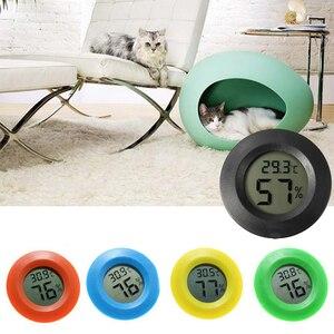 2 In 1 Round Portable Mini Accessory LCD Display Home Modern Reptile Temperature Digital Hygrometer