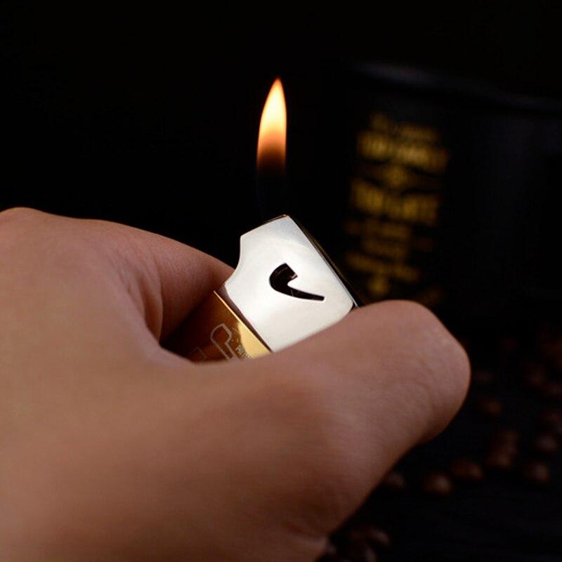 Multifunctional oblique flame pipe tool creative cigarette lighter cigarette lighter cigarette lighter smoking set men's cigaret enlarge