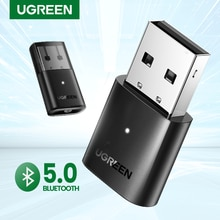 Ugreen-bluetooth 5.0オーディオミュージックアダプター,usb aptxドングルレシーバー4.0アダプター,ワイヤレスヘッドフォン,pc用