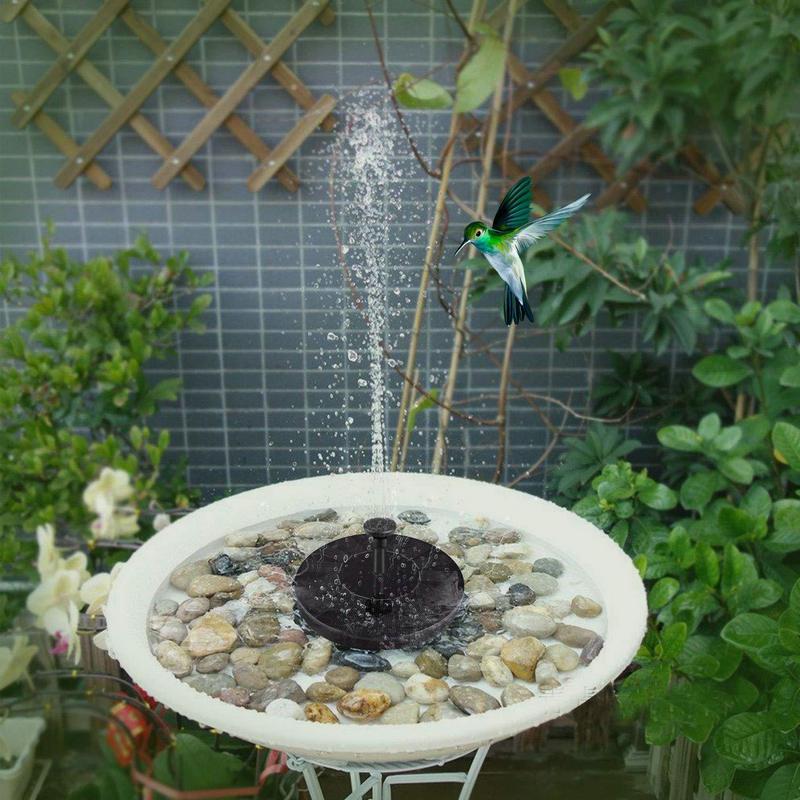 Fuente Solar redonda fuente de agua flotante Fontaine para decoración de jardín Solar Fontein piscina estanque cascada