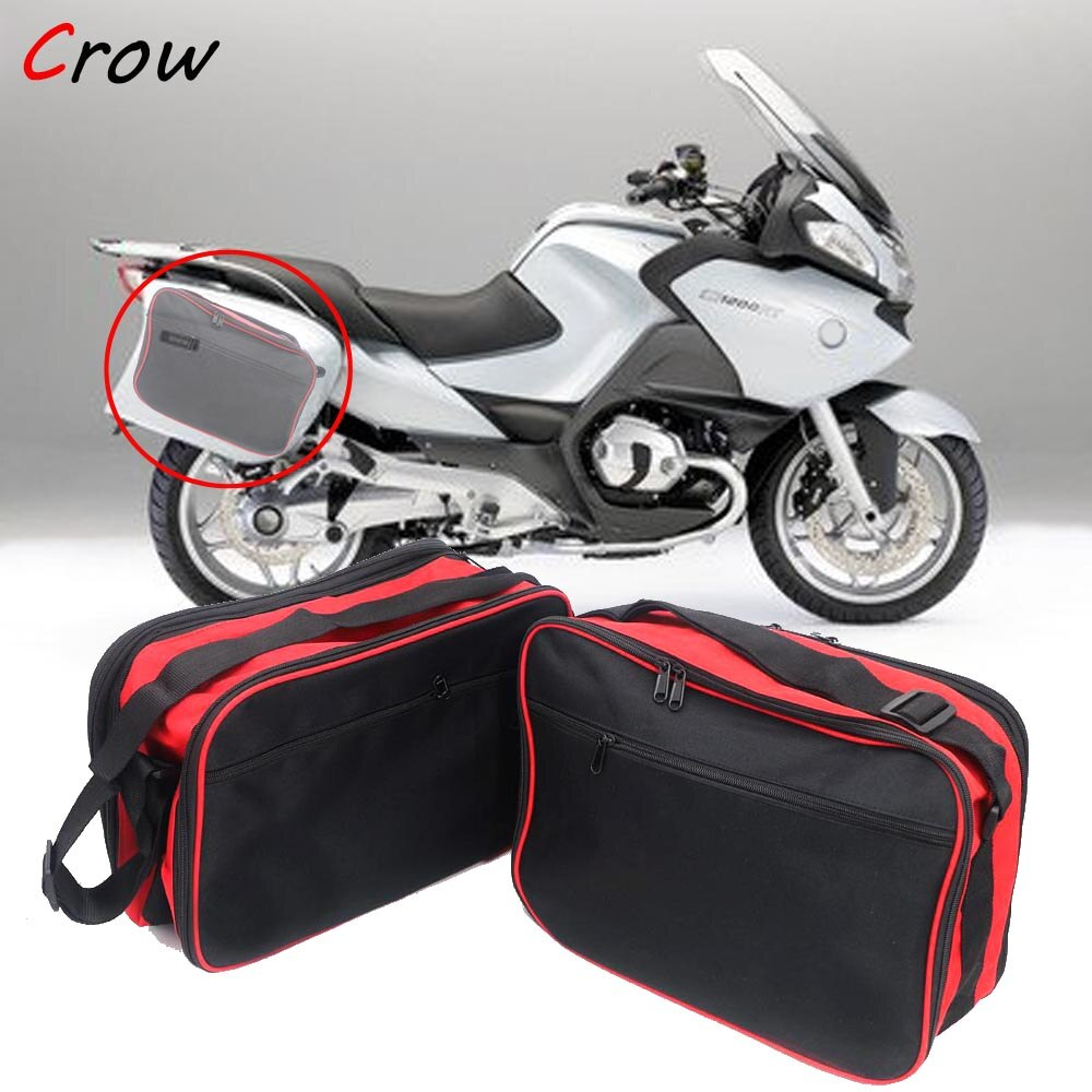 Für BMW R1200RT k1200GT R1200R K1300GT Motorrad gepäck taschen Schwarz erweiterbar Inneren Taschen