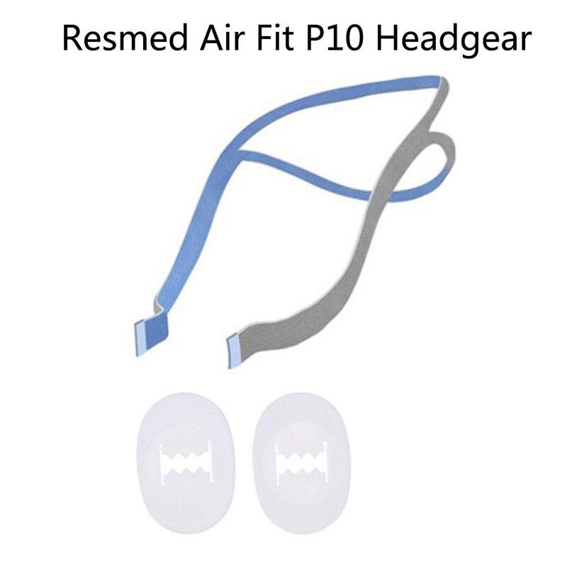 1 conjunto headgear substituição completa conjunto clipes cpap cabeça banda airfitp10 travesseiro nasal
