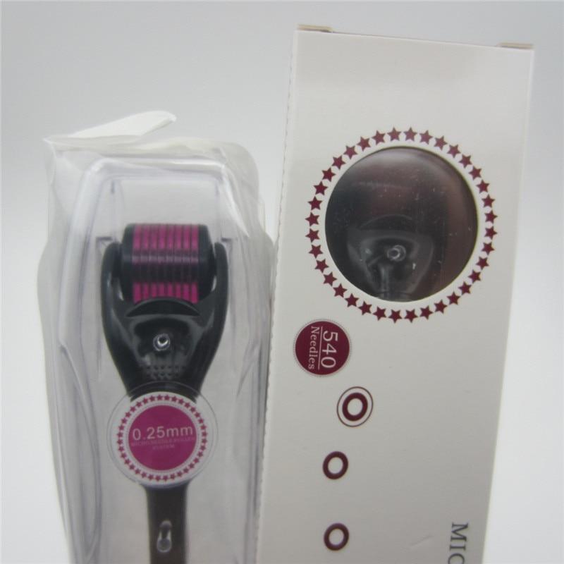 Micro Needle DRS 540 Roller Derma Mezo Roller Dermaroller Titanium Hair Regrowth Beard Growth Anti Hair Loss Thinning Receding