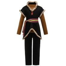 Anime Sneeuw Koningin Prins Kristoff Cosplay Kostuum Unisex Kinderen Warm Pak Jas Shirt Broek Volledige Sets Voor Halloween Carnaval Party