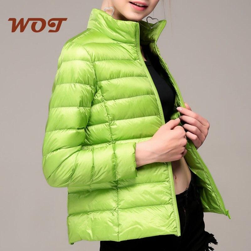 Ultra-light Plus Size Thin Down Jacket Women 2021 Autumn Winter Slim Short Warm White Duck Down Coat Women Outerwear