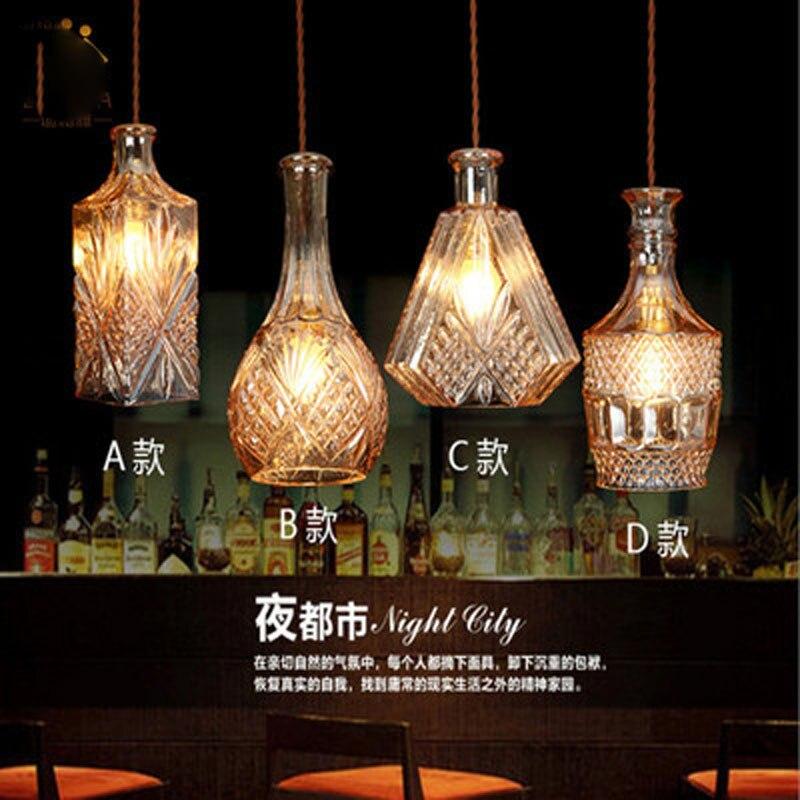 الشمال الحديثة نمط اللون رئيس واحد الزجاج مصباح بسيط و الإبداعية بار غرفة المعيشة مطعم B & B غرفة نوم السرير الثريا