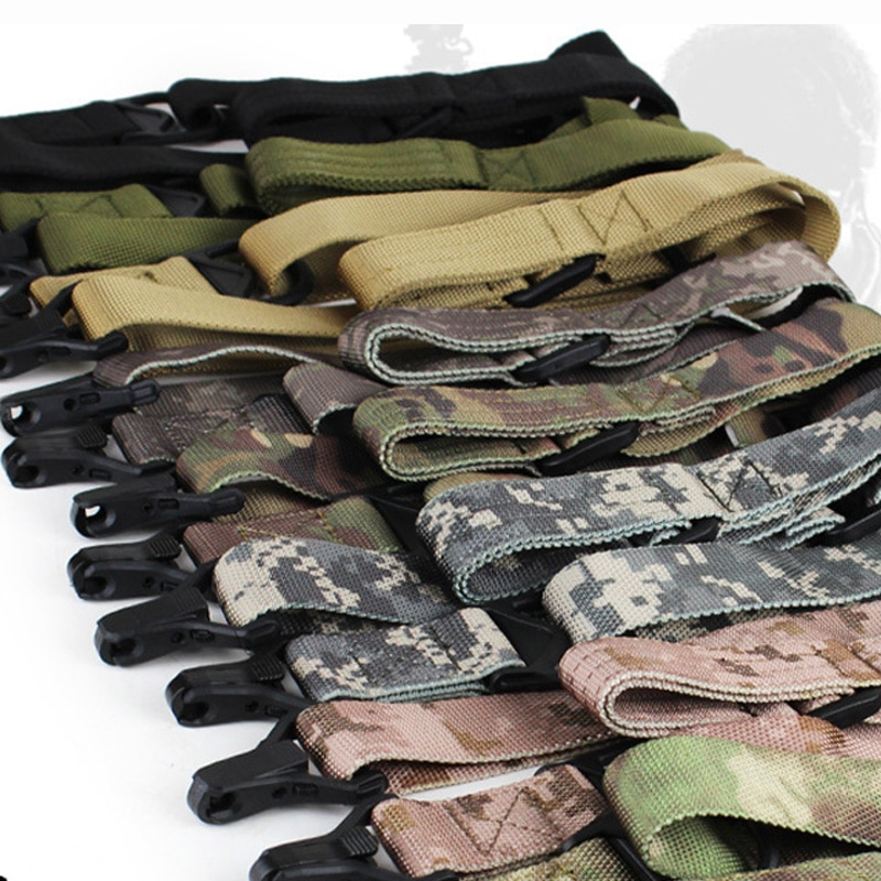 Tactical 2 Point Rifle Sling Military Two Point Ar15 Ak47 Gun Sling Bungee Strap Adjustable Military Airsoft Hunting Accessories