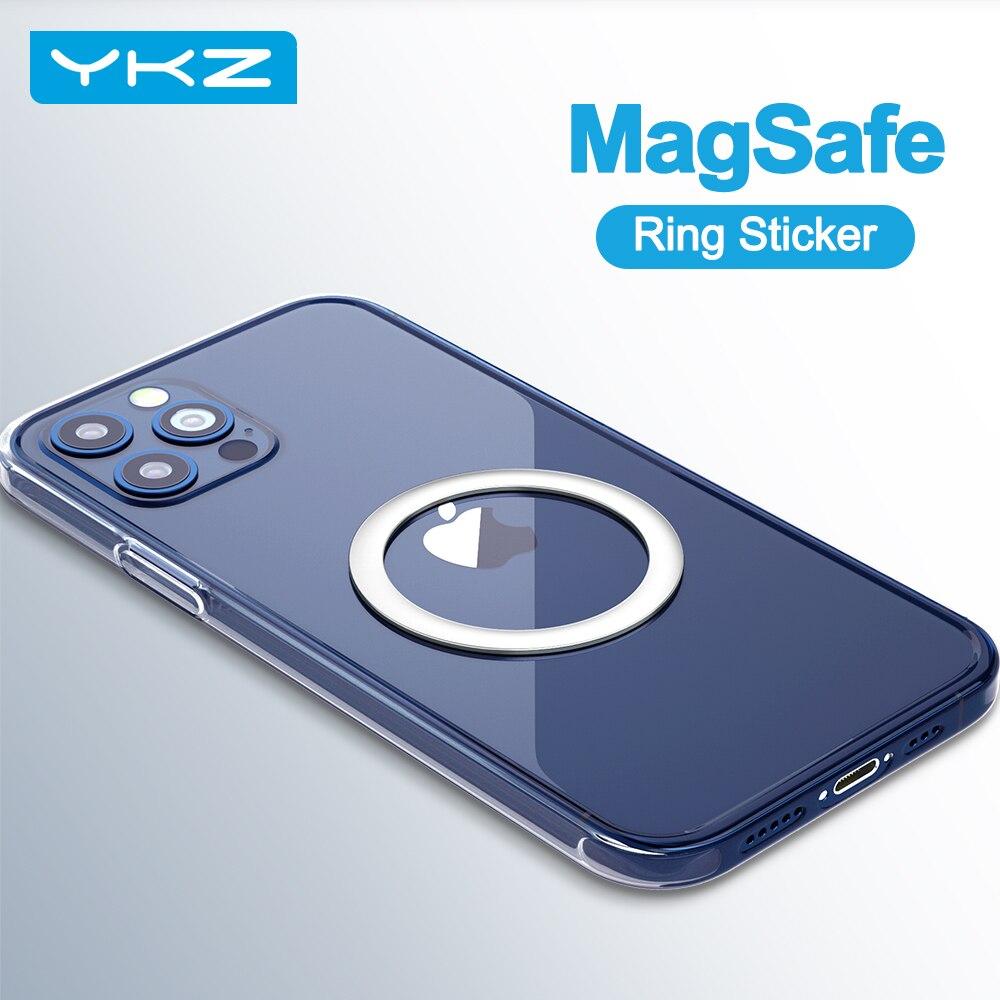 YKZ 3 шт. металлическая пластина из листового железа MagSafe наклейку держателя для iPhone 12 pro Max мини мобильный телефон держатель магнитный автомобильный держатель с подставкой Подставки и держатели      АлиЭкспресс