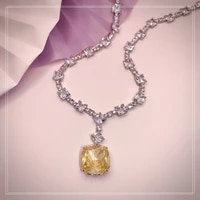 2021new fashion luxury trend web celebrity talent yellow womens necklace drop pendant shiny party ball queen temperament love