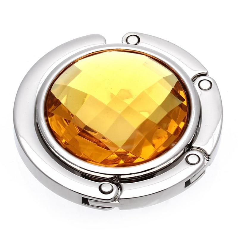 Plegable bolso de soportes de cristal Perchero de gancho para Bolsa espera naranja portátil