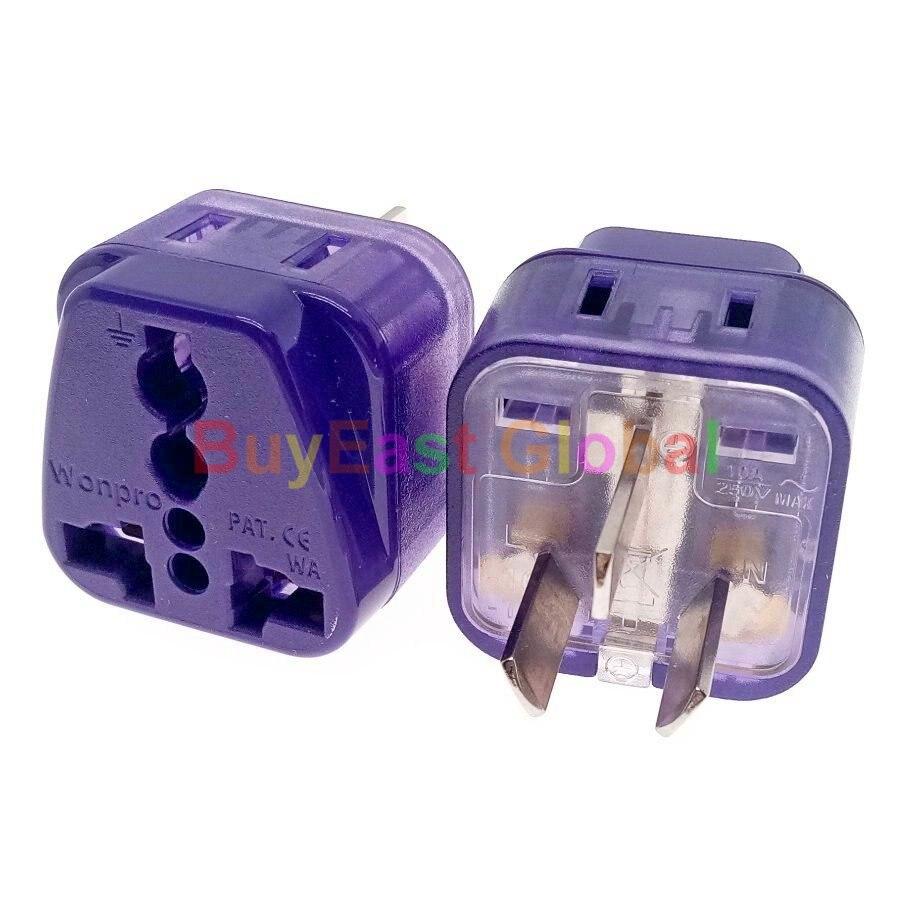 Adaptador de enchufe eléctrico Universal a AU, Nueva Zelanda, China, Argentina, 2...