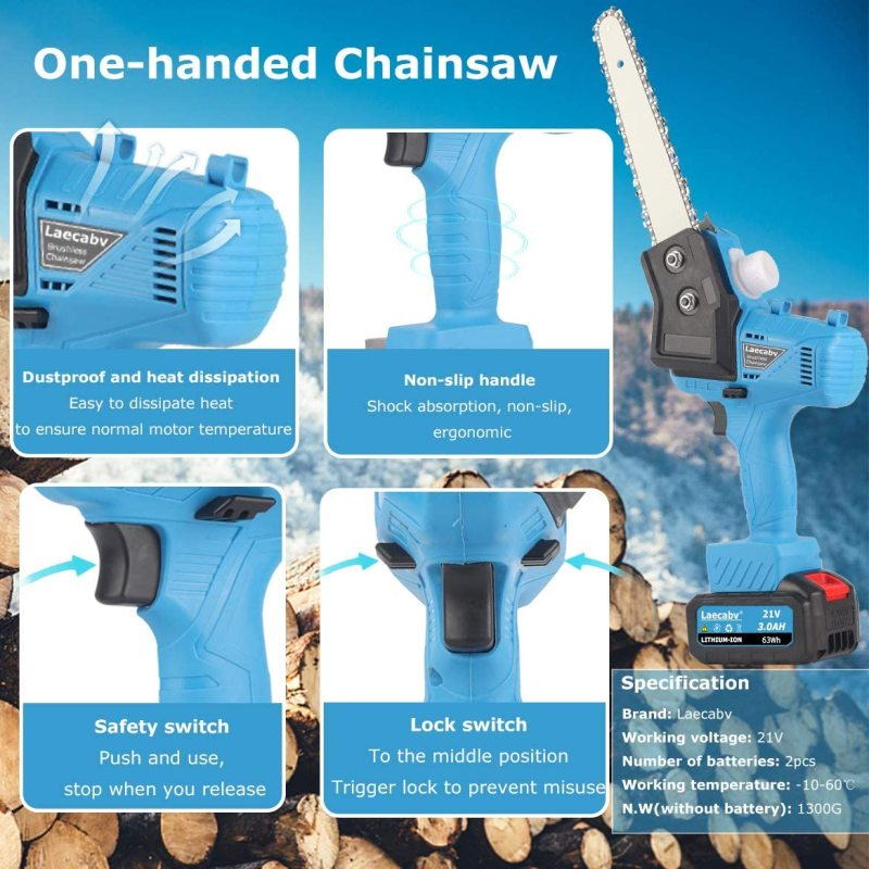 2021 Mini Electric Branch SawCordless Electrical Pruning Chain Saw Cordless Pruning Chainsaw for Garden Wood Cutting Tree Branch enlarge