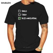 Camiseta de windsurf equipado-único tomado ocupado windsurf tshirt homem hipster adulto t camisas preto homme