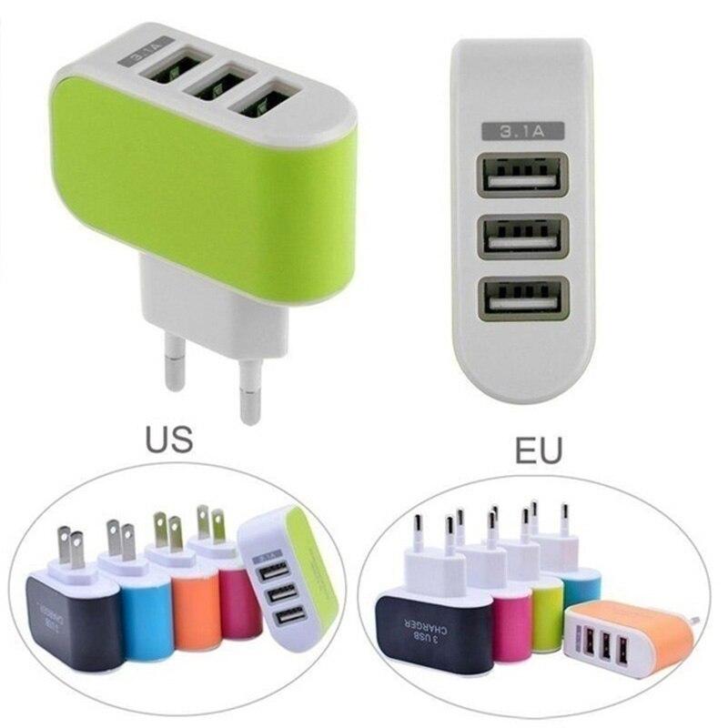 AC DC 5V 1A Netzteil 3 Port USB handy ladegerät Universal 5V USB Netzteil 220V EU Adapter Stecker Für Telefon Ladegerät