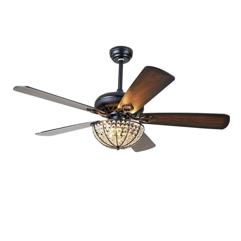 Ceiling Fan Lights Remote Control Wood Office Dining Room Bedroom Living Fan Lamps Lightings Fan Lights Home Fixture