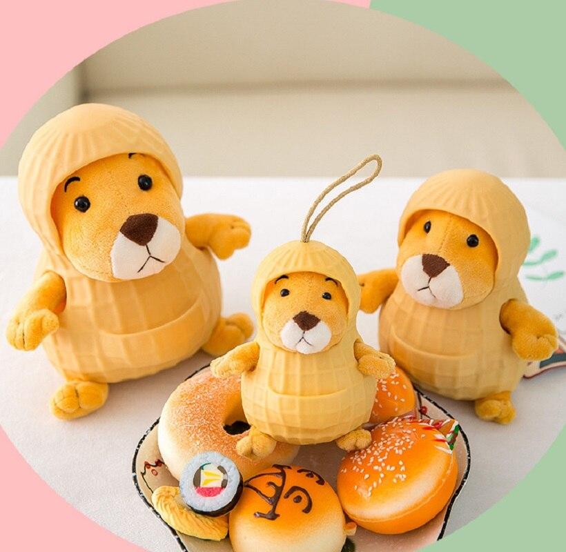 Estilo japonês Kawaii Bichos de Pelúcia Brinquedos De Pelúcia Netred Amendoim Rato Boneca Mini Brinquedos de Pelúcia Para As Crianças 3 Tamanho Com Silício caso