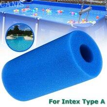 Piscine mousse filtre éponge Intex Type A réutilisable lavable Biofoam nettoyant piscine accessoires 200*100mm