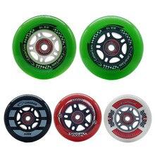 84mm roue de patinage de vitesse 84 slalom grandes ruedas pour 4X84mm patins à roues alignées chaussures Hyper 80A 82A 84A PU Hockey ILQ11 roulement patines