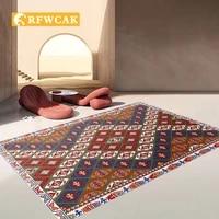 bohemian geometric abstract bedroom carpet home decoration ethnic living room coffee table sofa dust free mat non slip tatami
