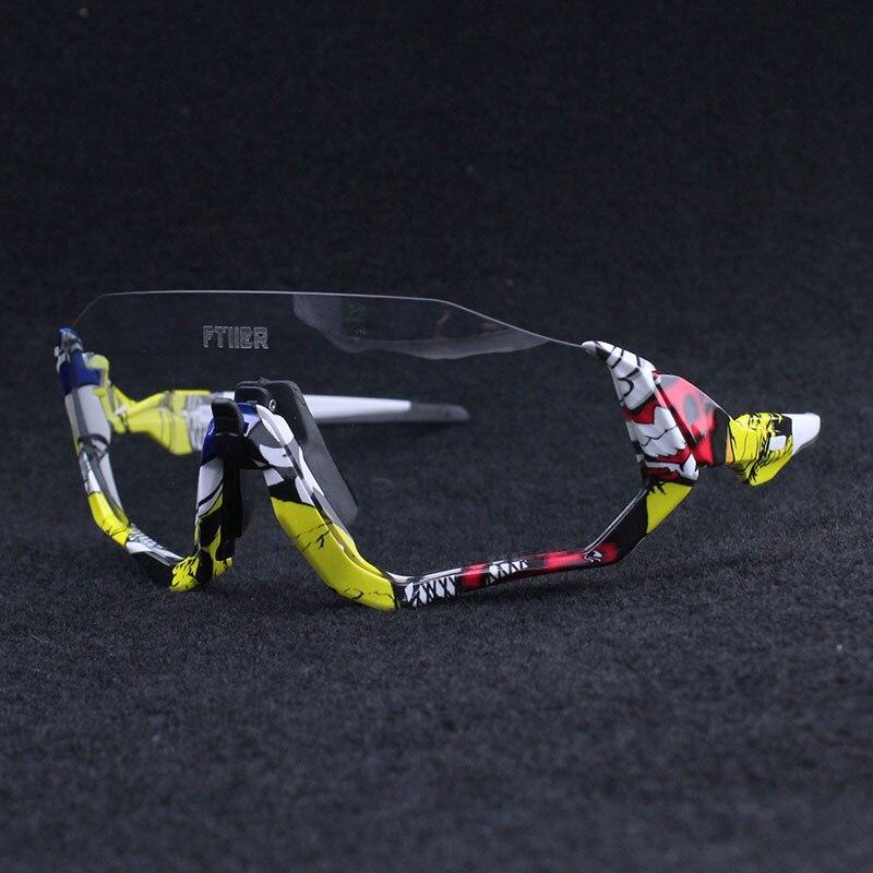 Novedad en gafas de sol fotocromáticas transparentes para ciclismo, gafas de sol deportivas para hombre y mujer, lentes para ciclismo bicicleta de montaña o carretera