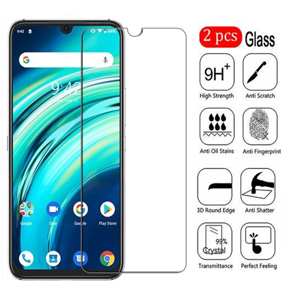 2Pcs Tempered Glass For UMI UMIDIGI A9 Pro Screen Protector Protective Film On For UMIDIGI A9 Max Phone Guard 9H Clear