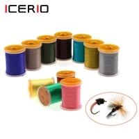 icerio70d140d 10 spoolset nylon fly tying thread for scud midge nymph dry wet fly tying material size 614 or 1422