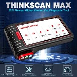 Thinkcar thinkscan ferramentas máximas obd2 scanner diagnóstico do sistema completo 28 função de restauração teste bidirecional ecu codificação pk crp909
