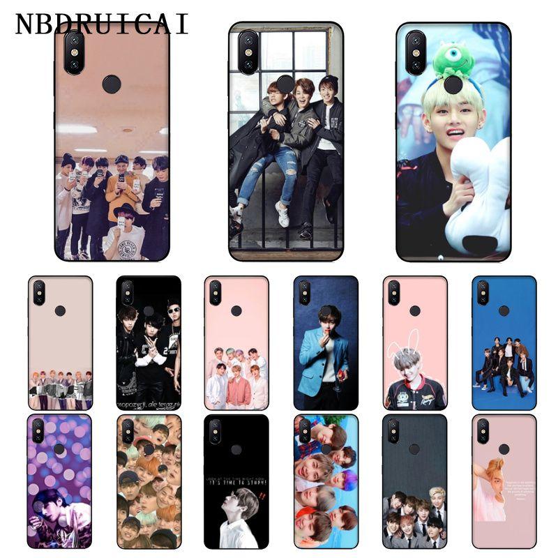 NBDRUICAI Kpop Bangtan Boys, funda de teléfono de silicona suave de TPU para Xiaomi 8 9 se 5X Redmi 6pro 6A 4X 7 5plus note 5 7 6pro