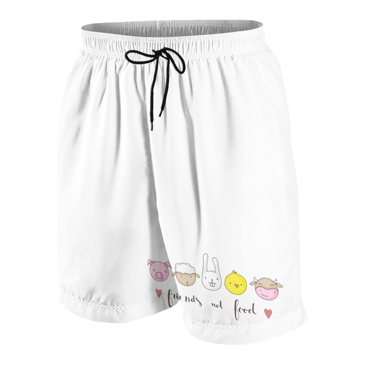 Friend-s Not Food Boys And Girls Shorts Summer Beach Loose Casual Pants